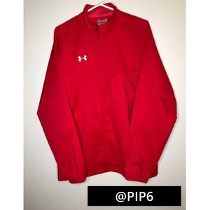 🚨50% off🚨 Under Armour red zip-up jacket/ large
